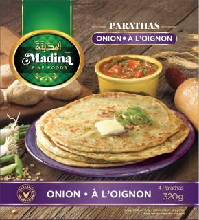 madina onion paratha